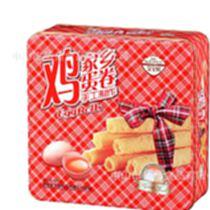 金寶利原味 雞蛋卷 鐵罐禮盒休閑小吃零食兒童蛋卷年貨 團購